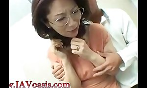 Japanese lady doing a blowjob yon the toilet - Concerning readily obtainable www.javoasis.com