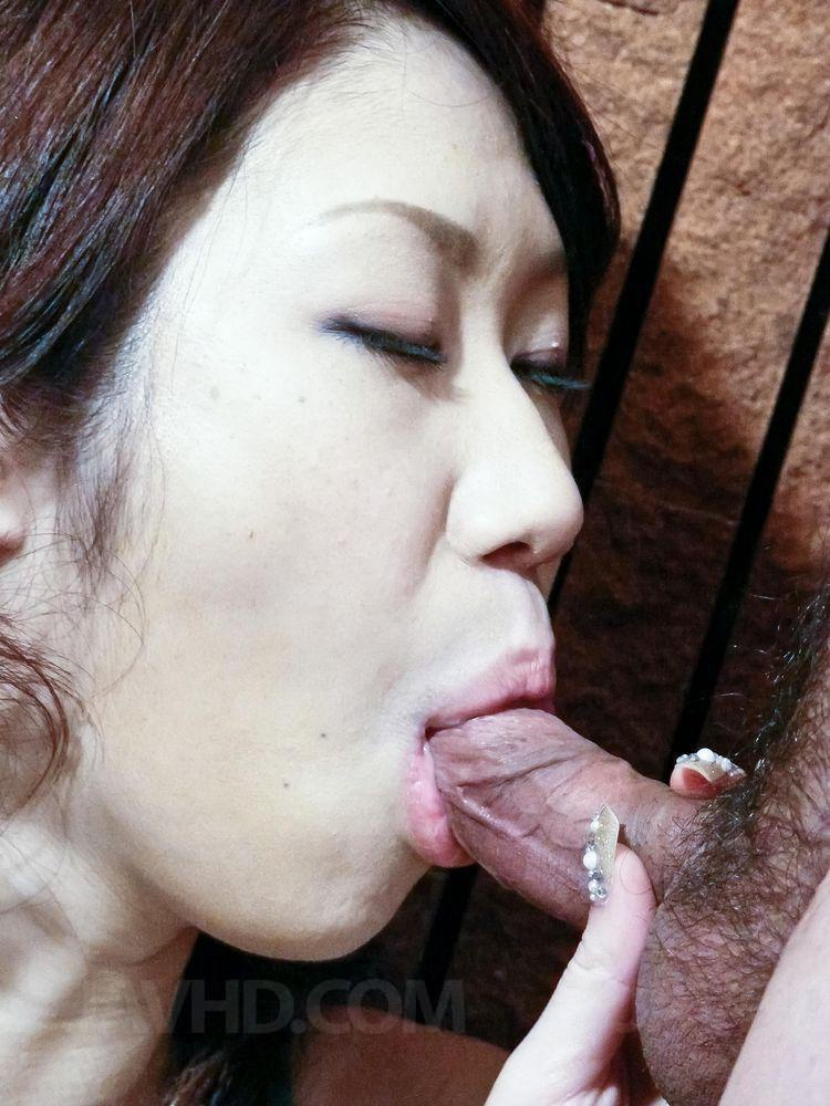 Ayaka busty gets cum on mouth after is nailed 9