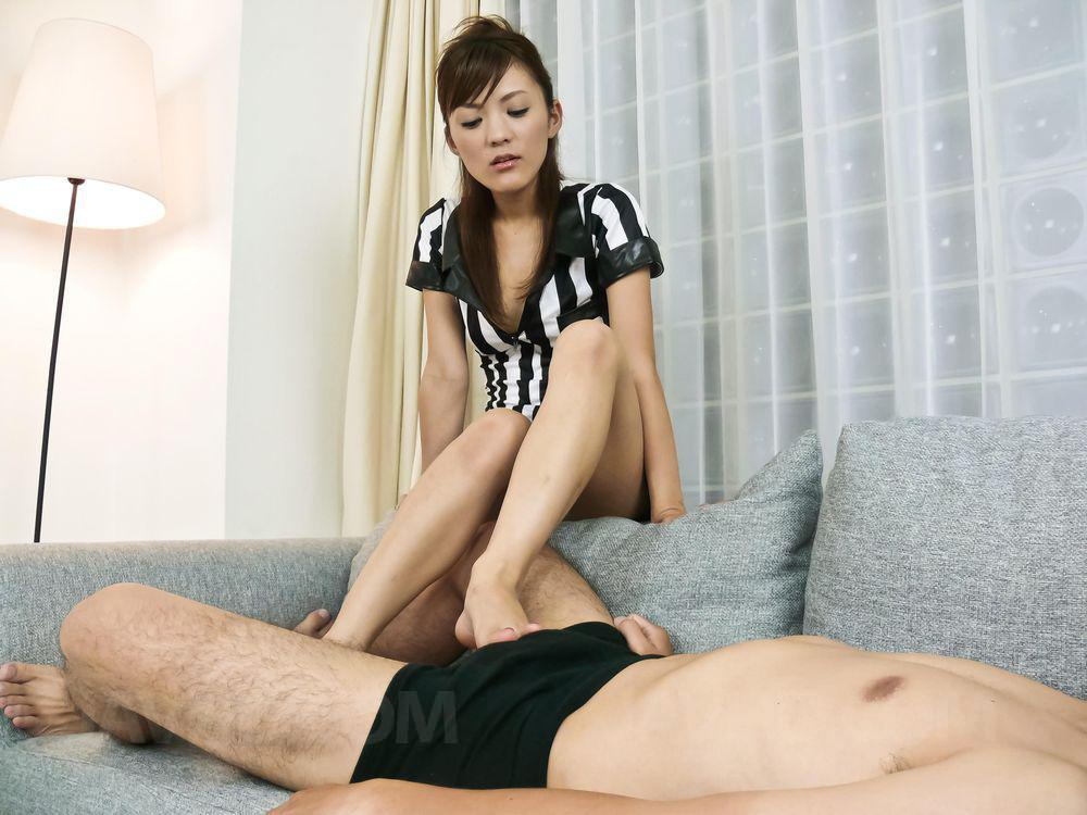 Hot asian rubs her body 5